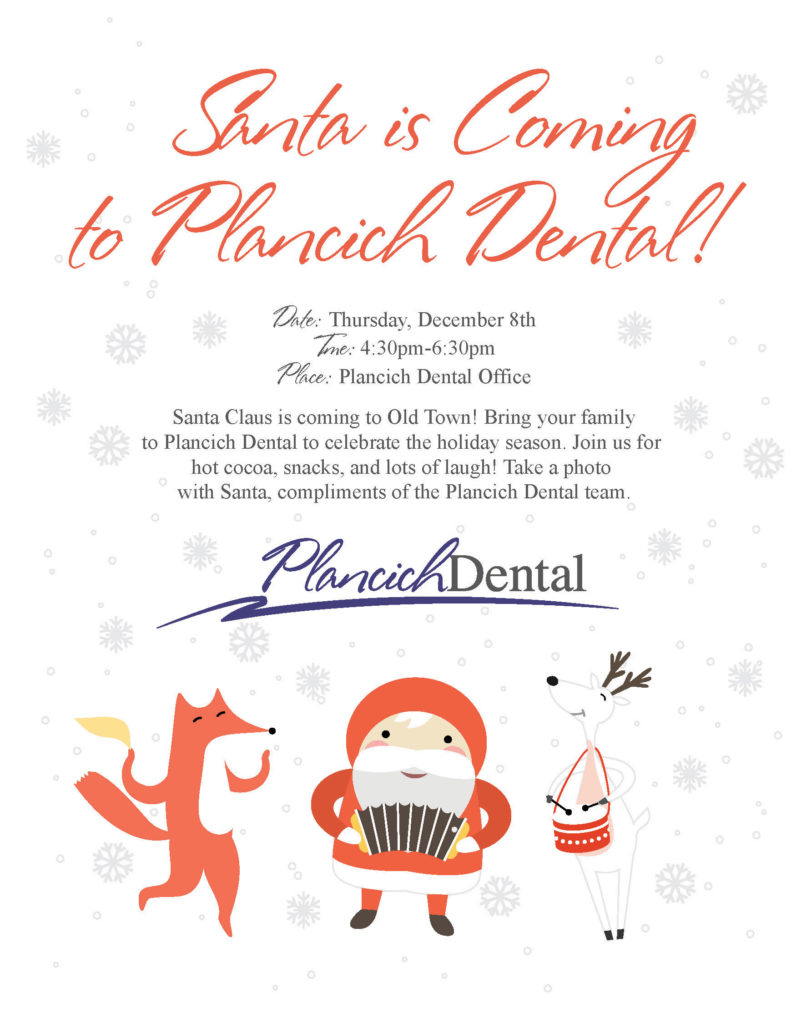 Santa Clause flier to Plancich Dental